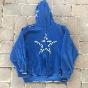 Mitchell & Ness Dallas CowBoys Full zipper hoodie